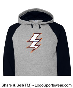JERZEES Nublend  Colorblocked Hooded Pullover Sweatshirt Design Zoom