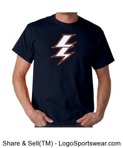 Lightning Superhero Tee Design Zoom