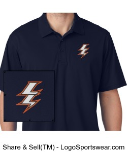Mens Polo with Embroidered Logo Design Zoom