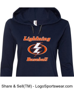 Ladies Lightweight Long Sleeve Hooded T-Shirt Design Zoom
